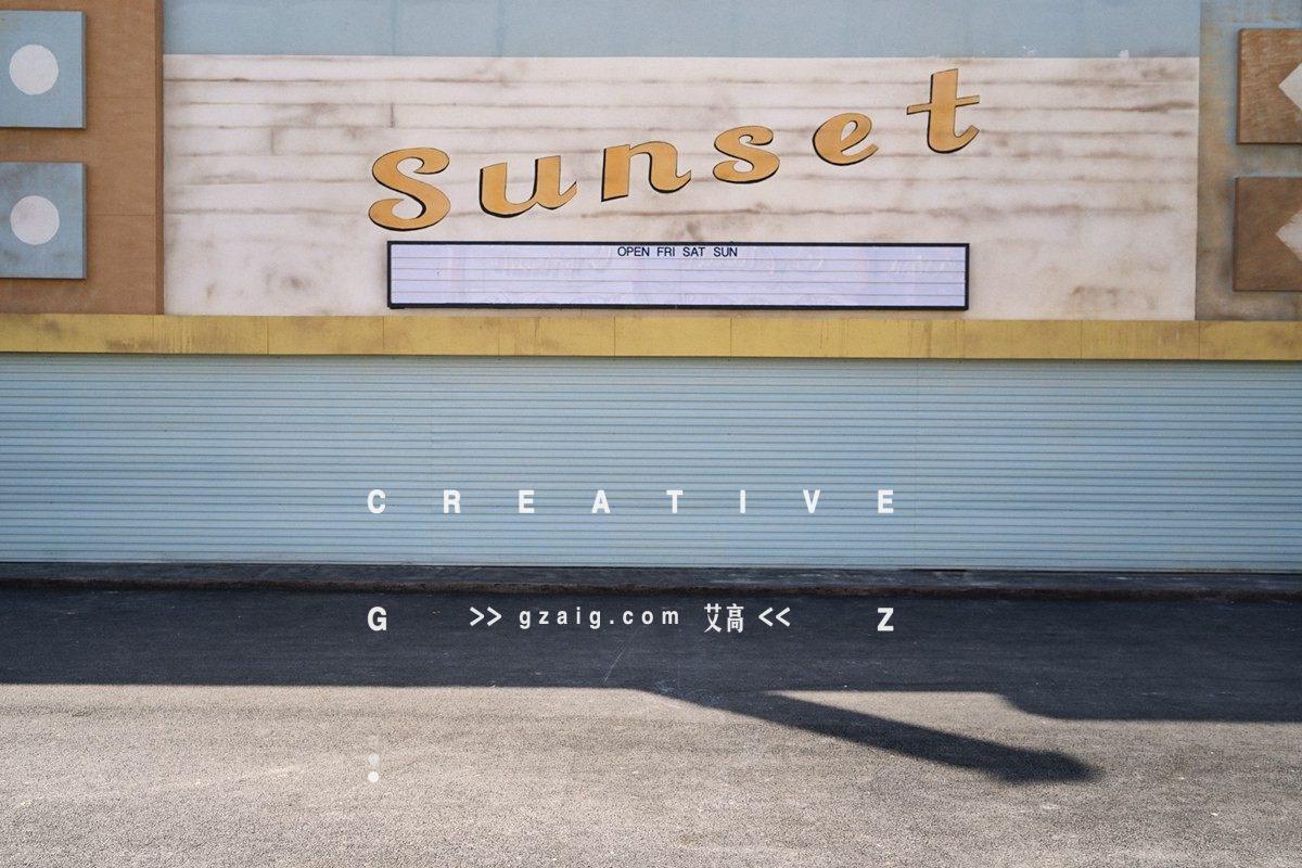 Sunset海报墙